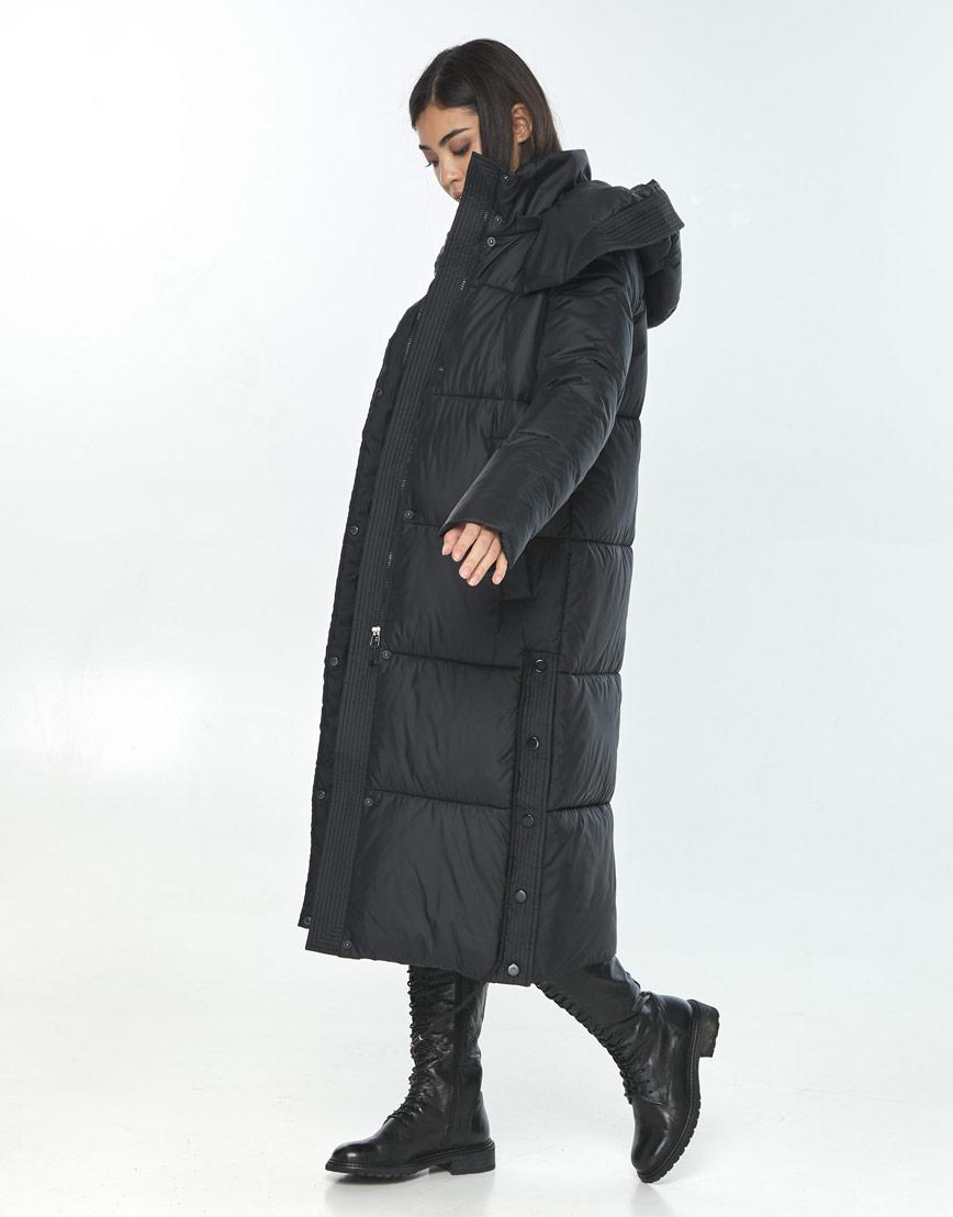 Куртка стильная подростковая Moc для зимы чёрная M6874 фото 2