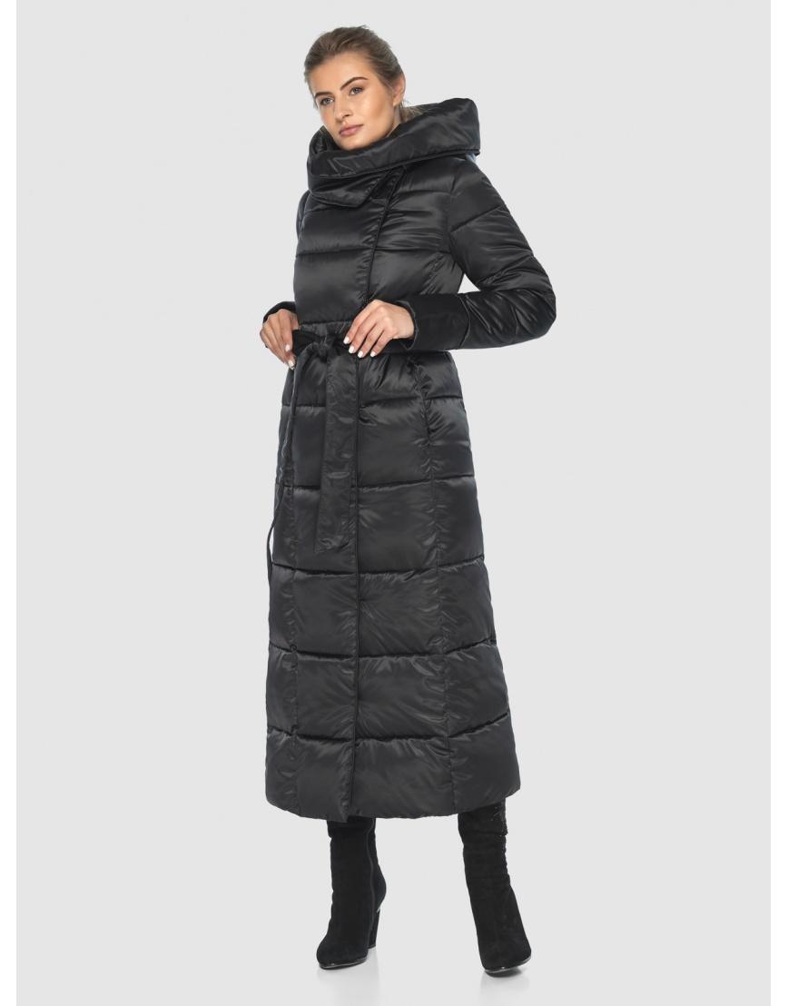 Чёрная подростковая комфортная куртка зимняя Ajento 22356 фото 1