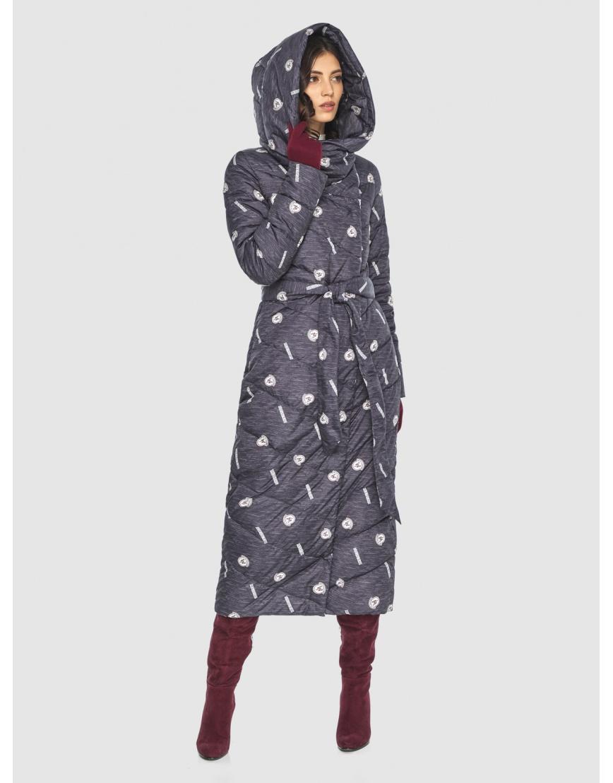 Тёплая куртка с рисунком зимняя Vivacana для подростков-девушек 9405/21 фото 3