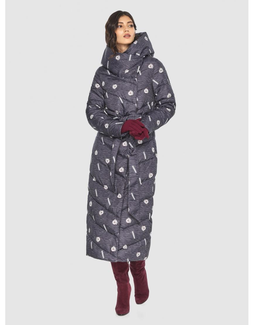 Тёплая куртка с рисунком зимняя Vivacana для подростков-девушек 9405/21 фото 1