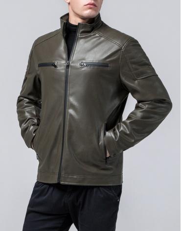 Ветровка мужская цвета хаки модель 2612 оптом