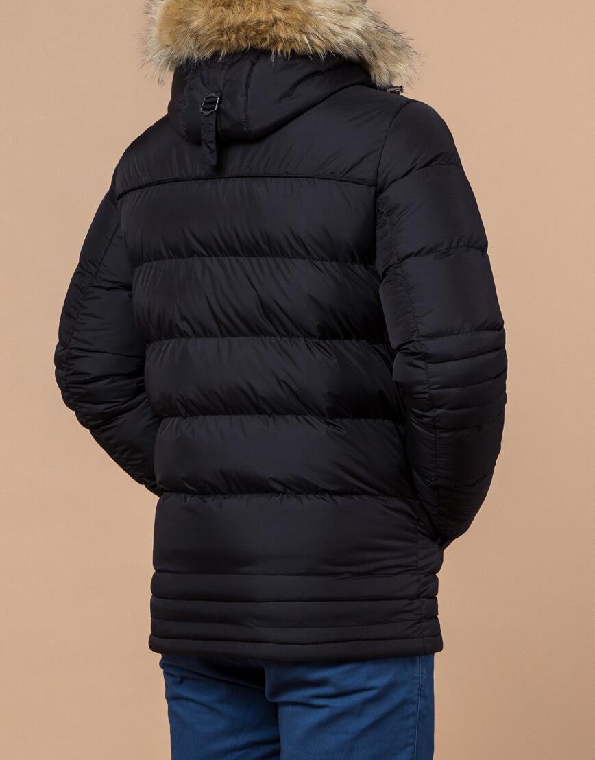 Черная зимняя модная куртка модель 45610 фото 3