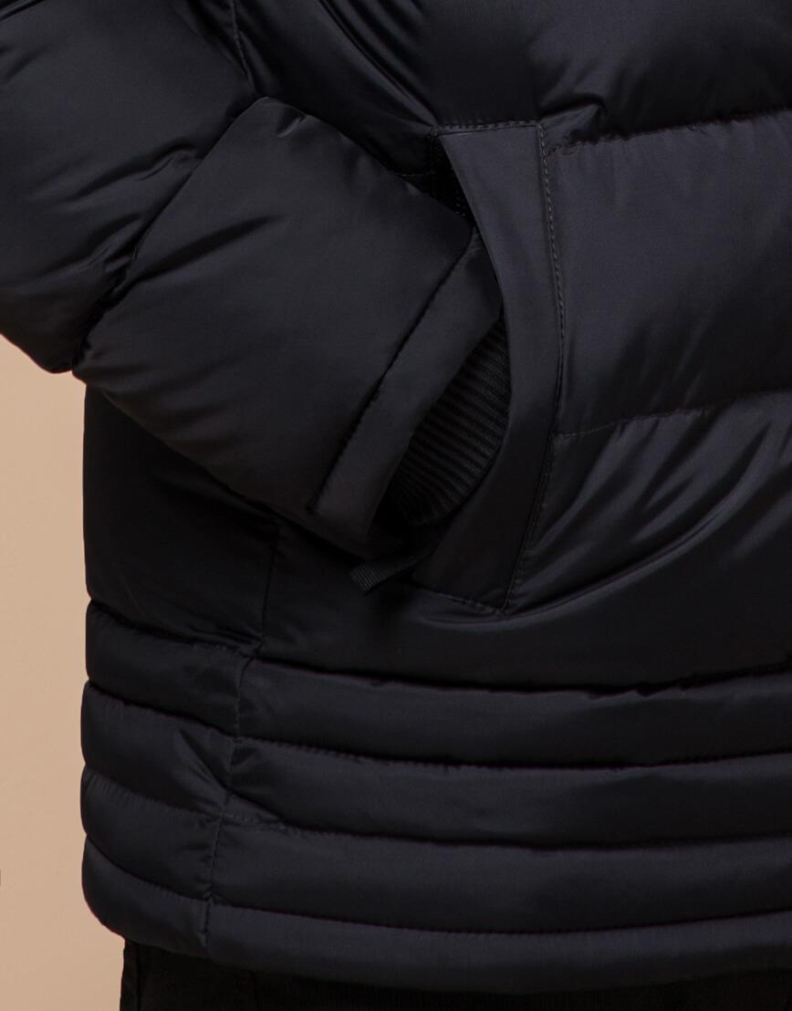 Черная зимняя модная куртка модель 45610 фото 5