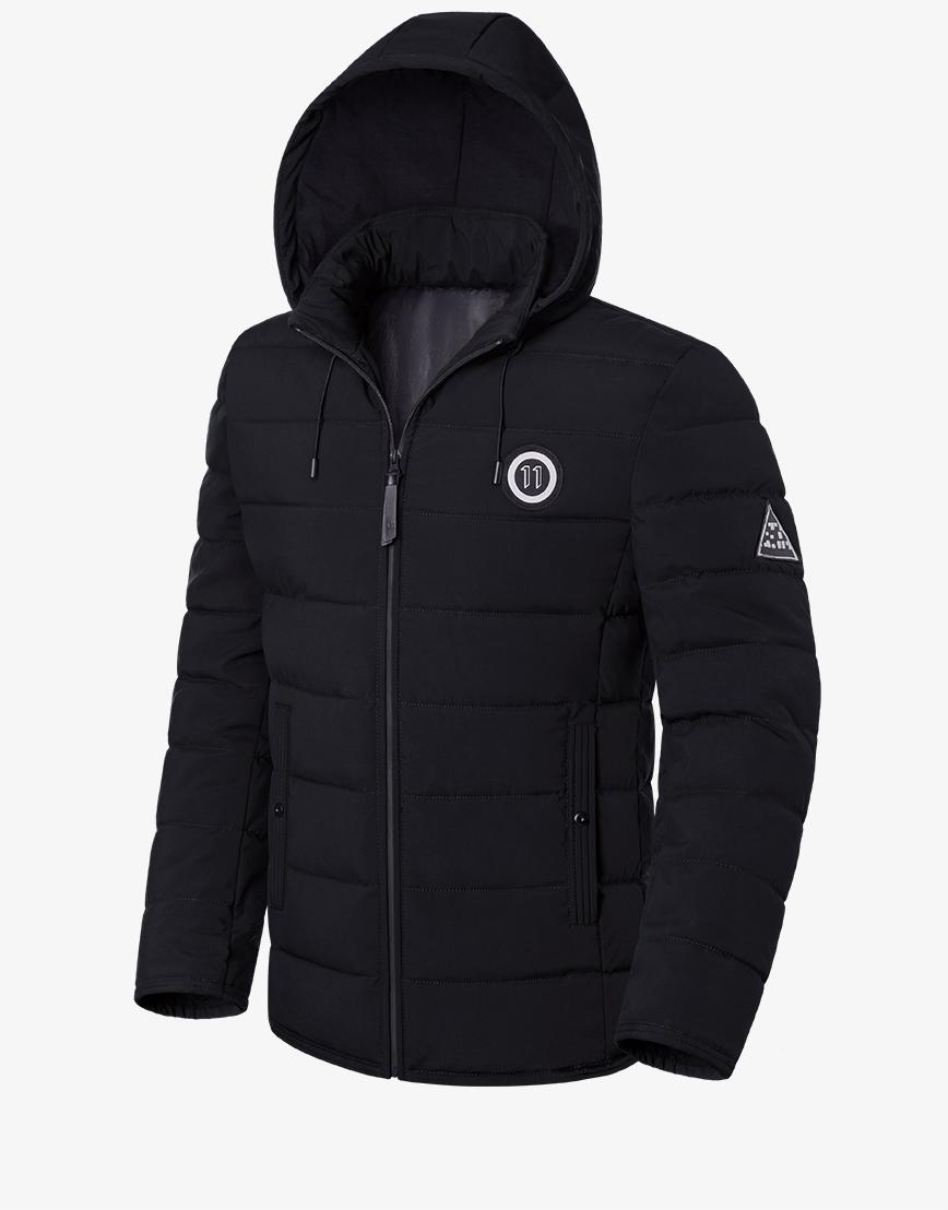 Куртка практичная зимняя черная модель 1706 фото 1