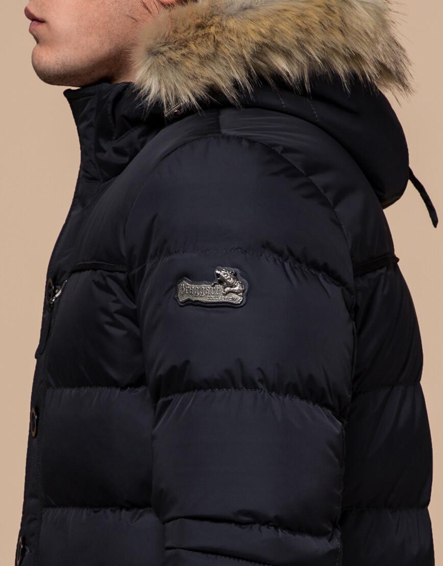 Черная зимняя модная куртка модель 45610 фото 6