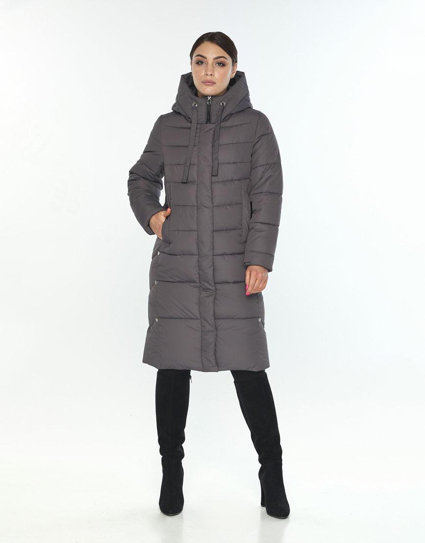 Серая фирменная женская куртка Wild Club зимняя 541-94 фото 1