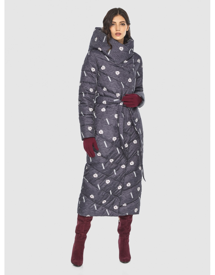 Тёплая куртка с рисунком зимняя Vivacana для подростков-девушек 9405/21 фото 2
