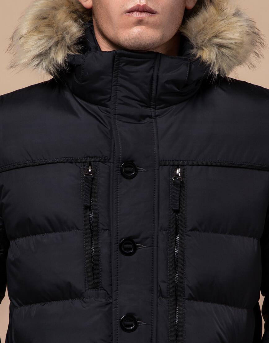 Черная зимняя модная куртка модель 45610 фото 4
