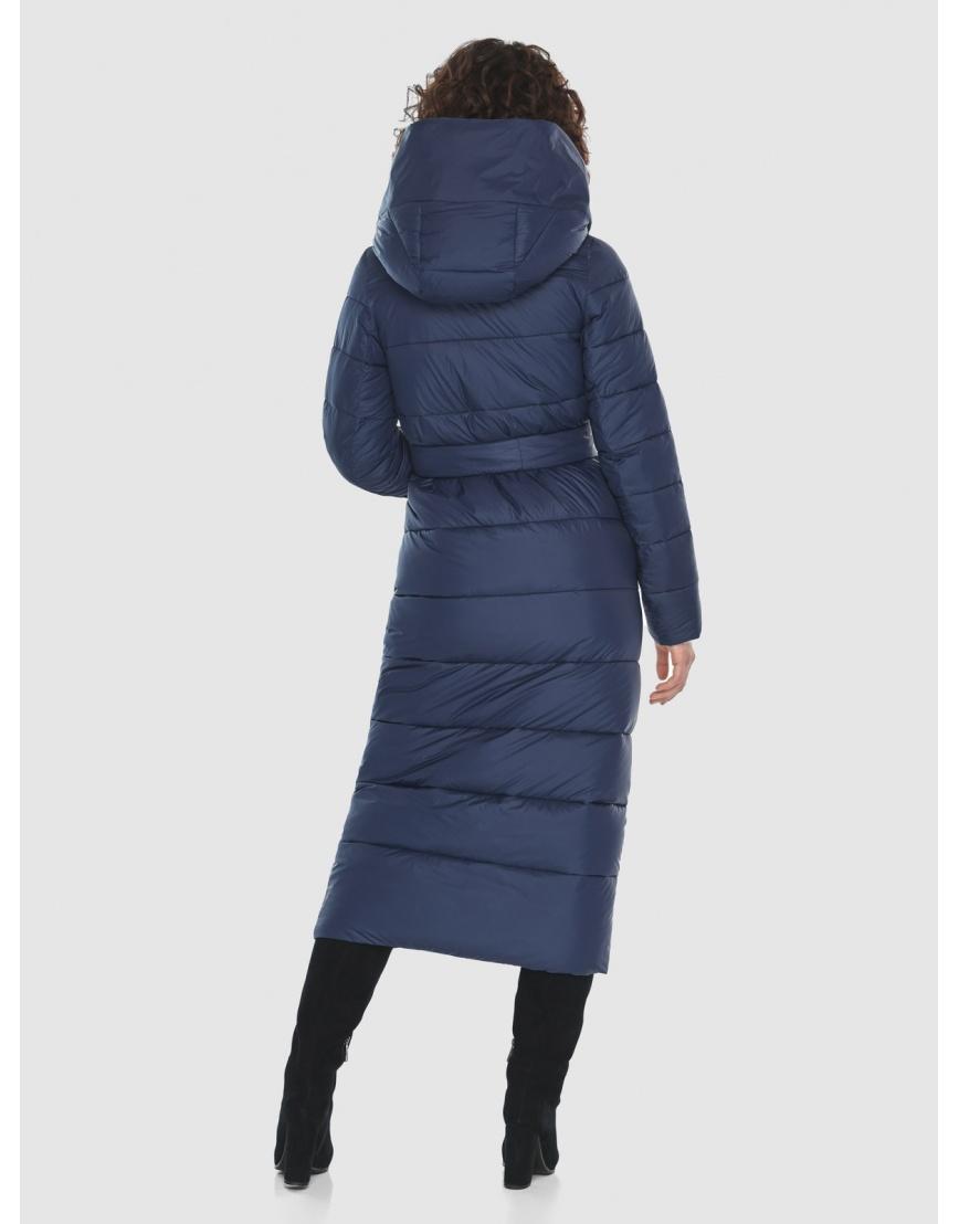 Синяя длинная куртка Moc женская тёплая M6471 фото 4