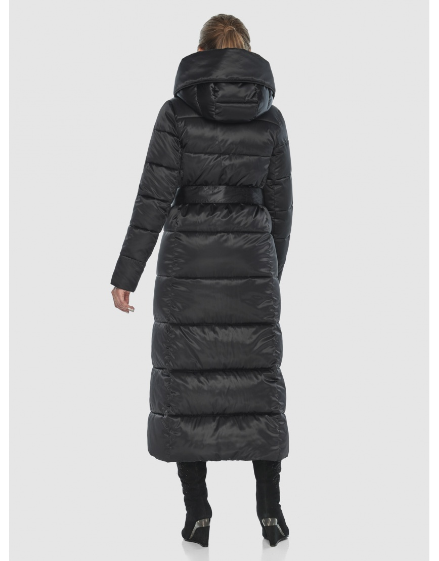 Чёрная подростковая комфортная куртка зимняя Ajento 22356 фото 4