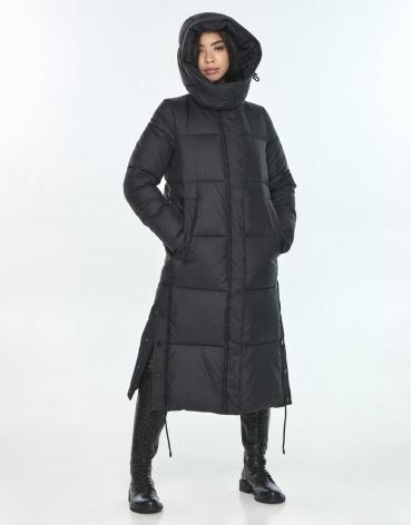Куртка стильная подростковая Moc для зимы чёрная M6874 фото 1