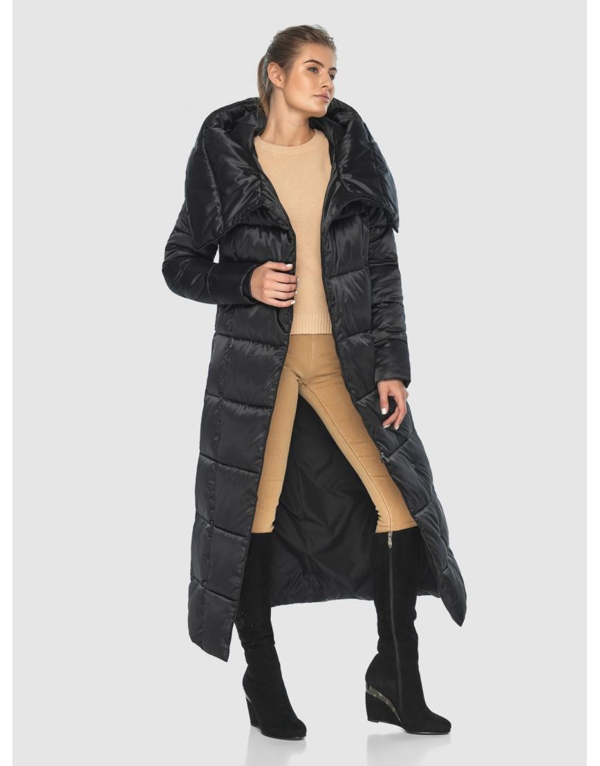 Чёрная подростковая комфортная куртка зимняя Ajento 22356 фото 6