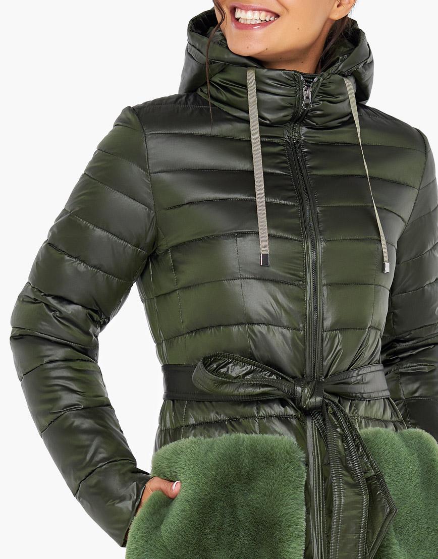 Осенне-весенний воздуховик Braggart стильного дизайна женский цвет темный хаки модель 31845 фото 5