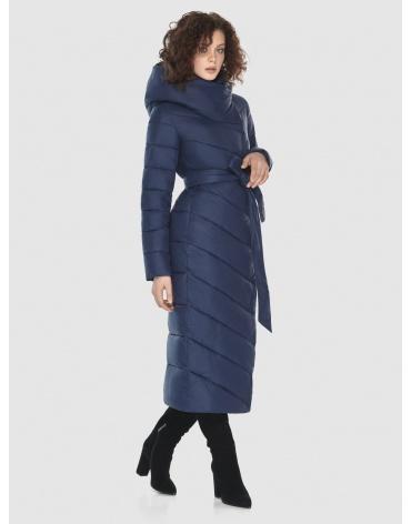 Синяя длинная куртка Moc женская тёплая M6471 фото 1