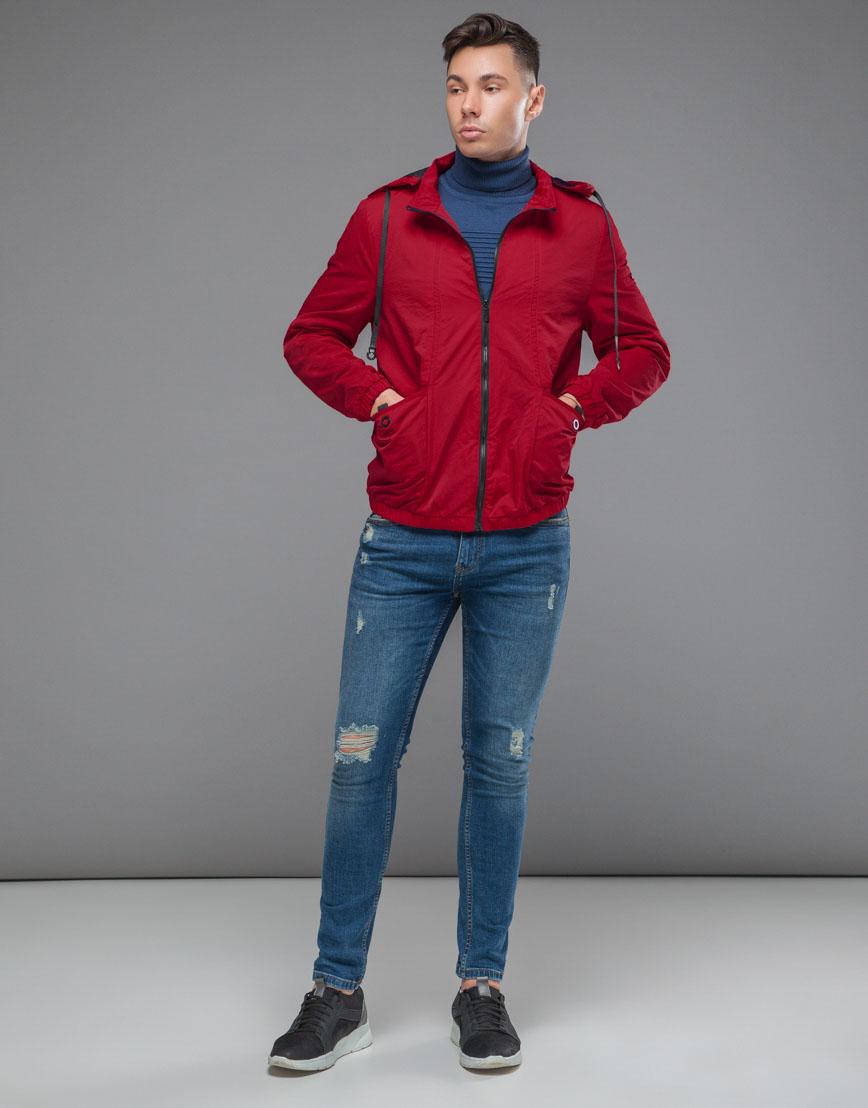 Красная ветровка осенне-весенняя модель 38399 оптом