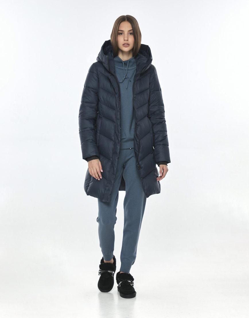 Куртка синяя женская Vivacana фирменная 7821/21 фото 2