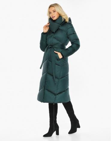 Изумрудный воздуховик Braggart модный зимний женский модель 47260 фото 1