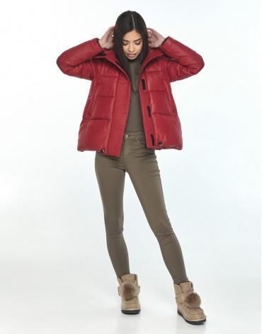 Модная подростковая куртка Moc красная на зиму M6981 фото 1