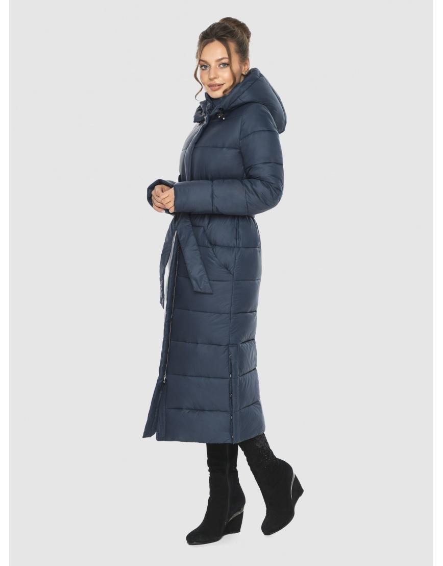 Женская длинная курточка Ajento синяя 21207 фото 2