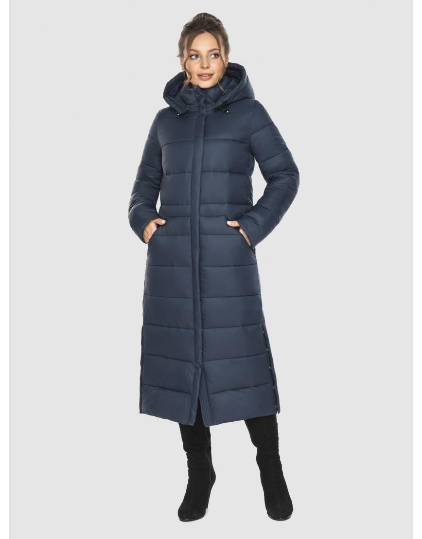 Женская длинная курточка Ajento синяя 21207 фото 6