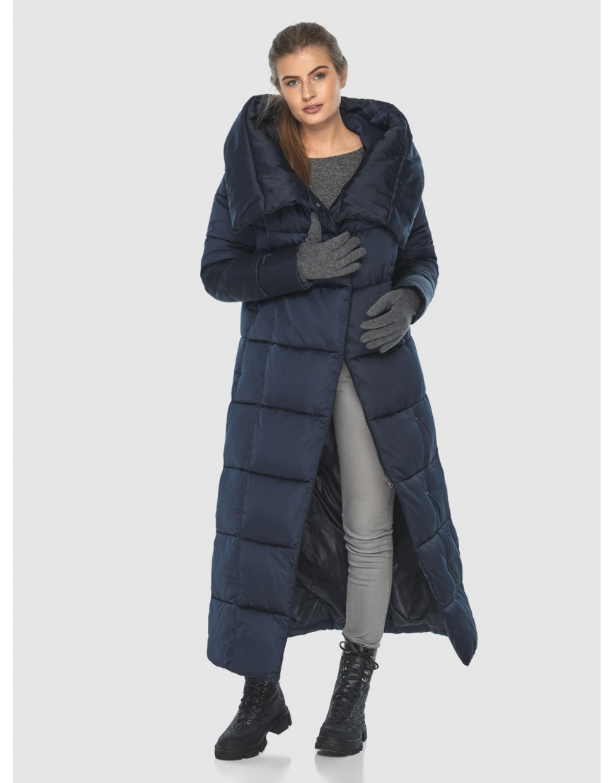 Удлинённая подростковая зимняя куртка Ajento синяя 22356 фото 2