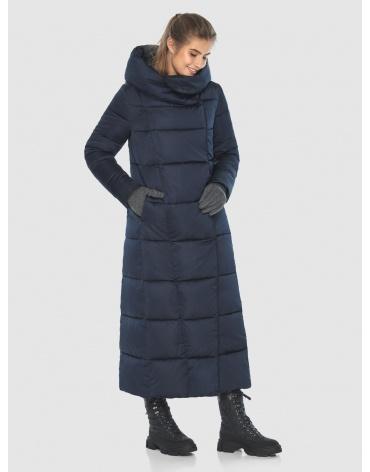 Удлинённая подростковая зимняя куртка Ajento синяя 22356 фото 1