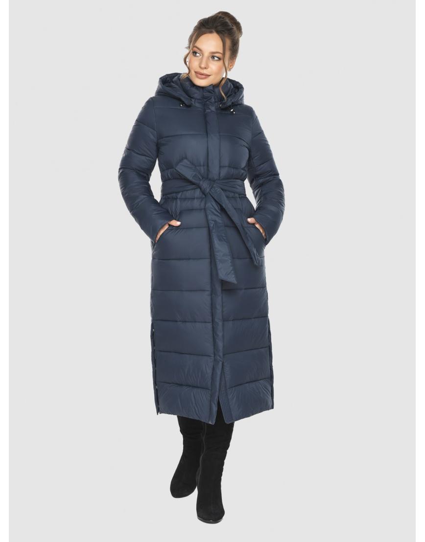 Женская длинная курточка Ajento синяя 21207 фото 5
