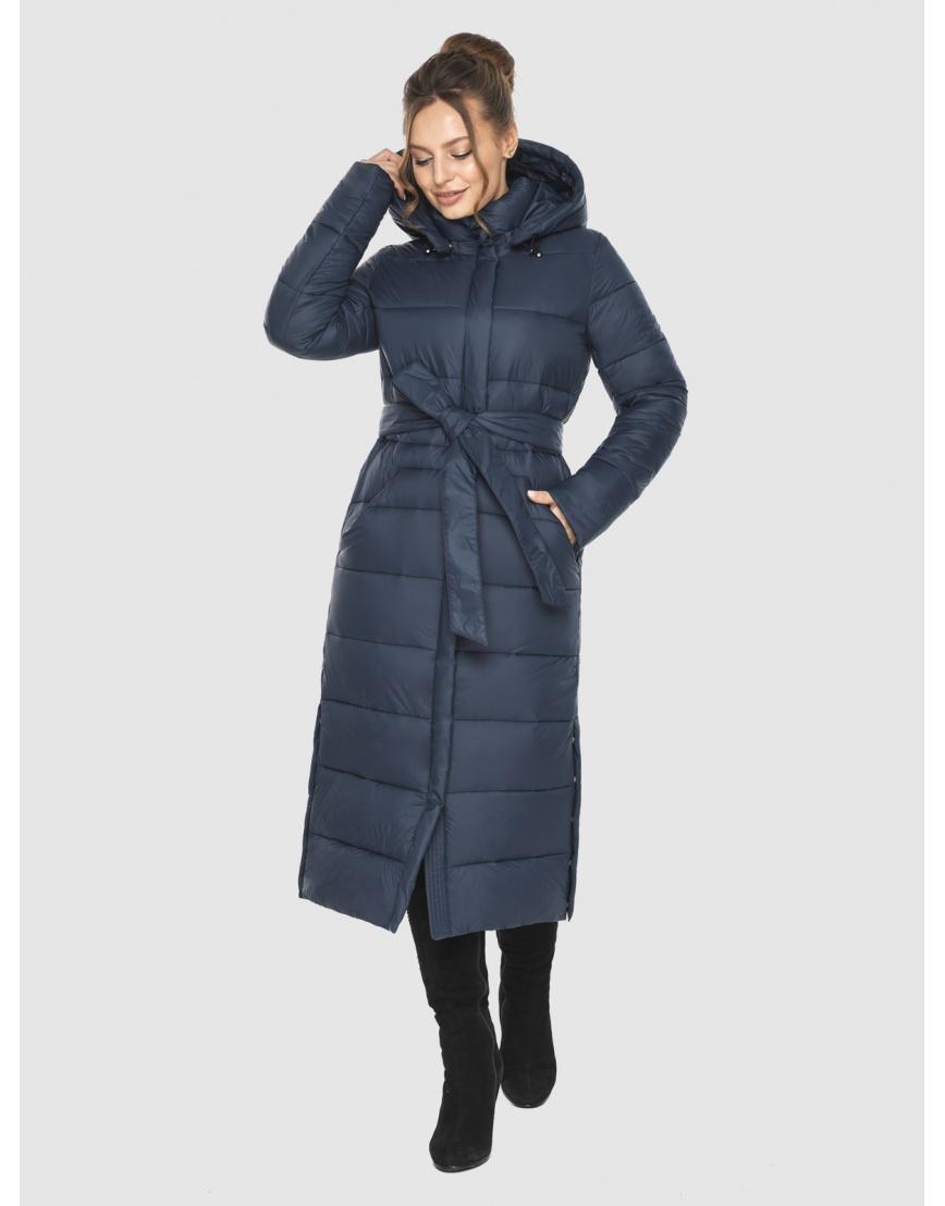 Женская длинная курточка Ajento синяя 21207 фото 3