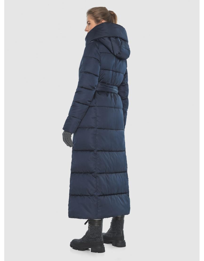 Удлинённая подростковая зимняя куртка Ajento синяя 22356 фото 4