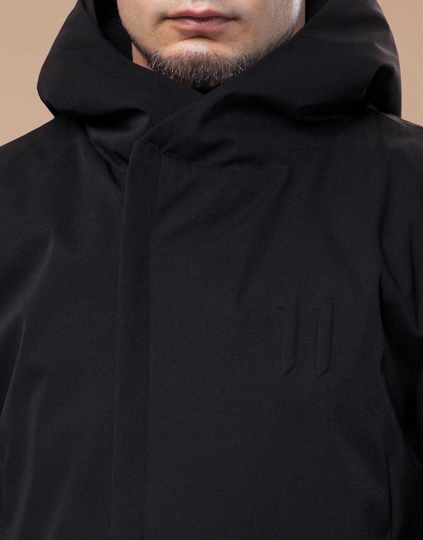 Модная парка зимняя цвет черный модель 25710 оптом