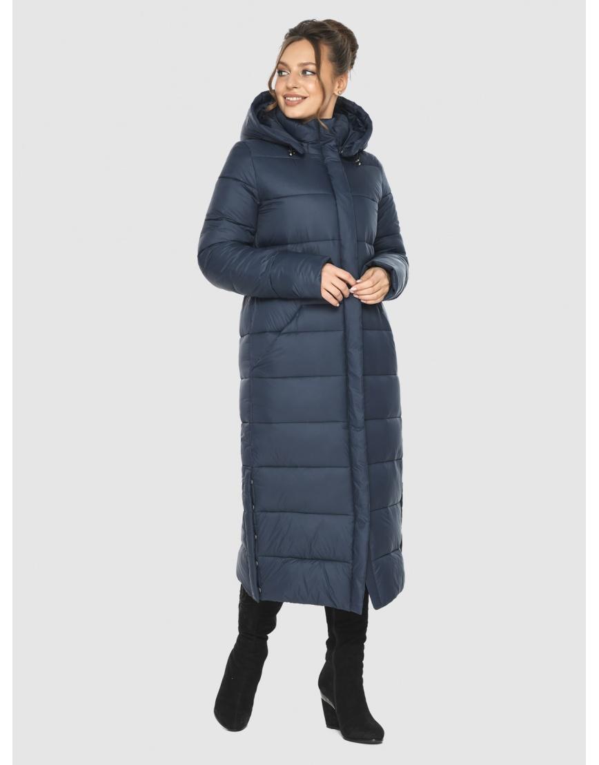 Женская длинная курточка Ajento синяя 21207 фото 1
