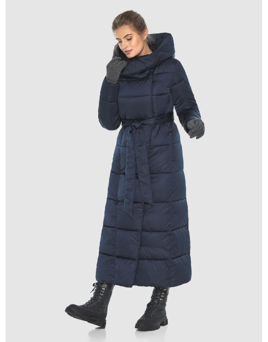 Удлинённая подростковая зимняя куртка Ajento синяя 22356 фото 6