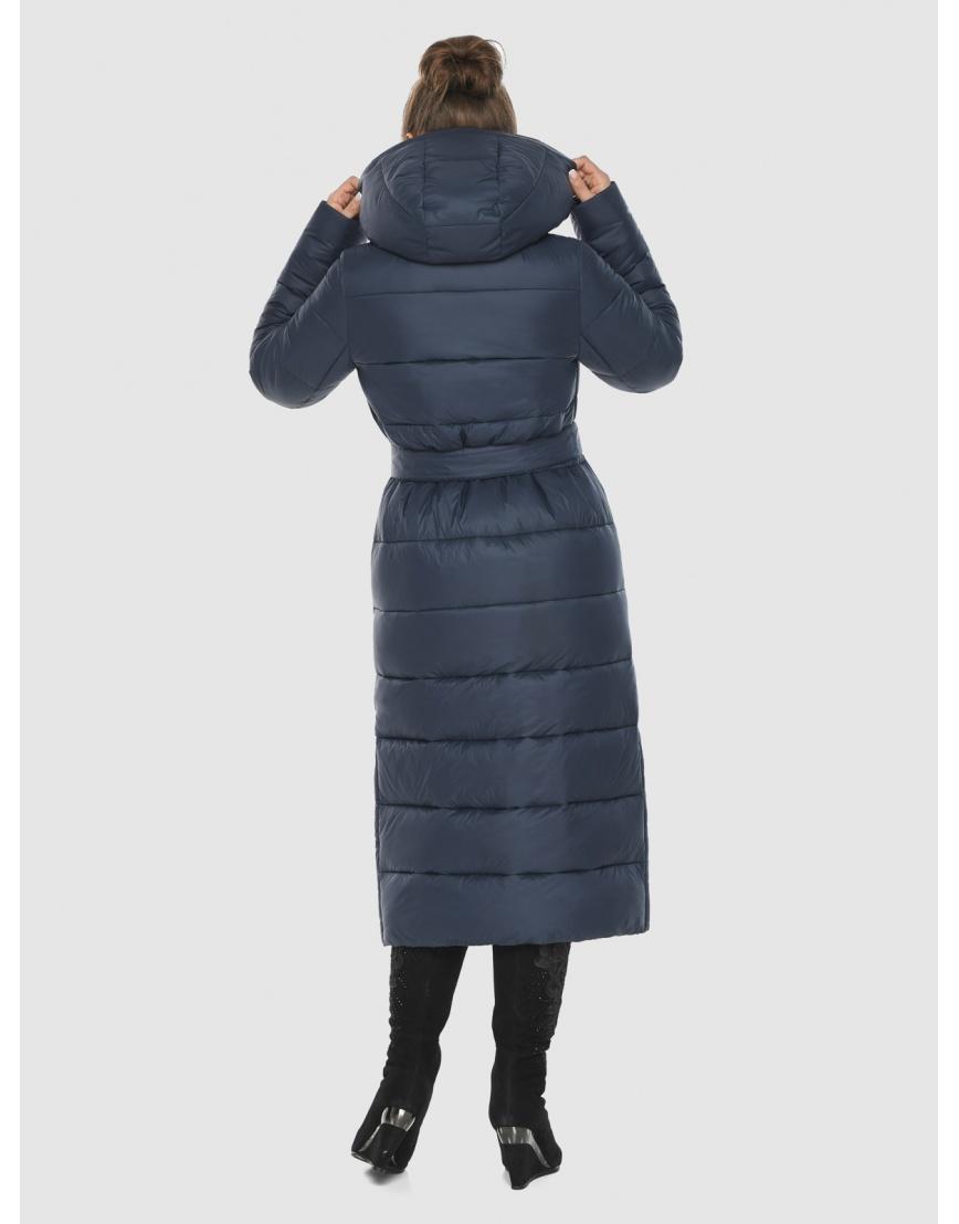 Женская длинная курточка Ajento синяя 21207 фото 4