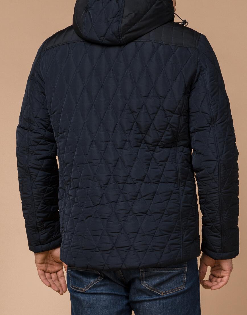 Куртка синяя с капюшоном модель 30538