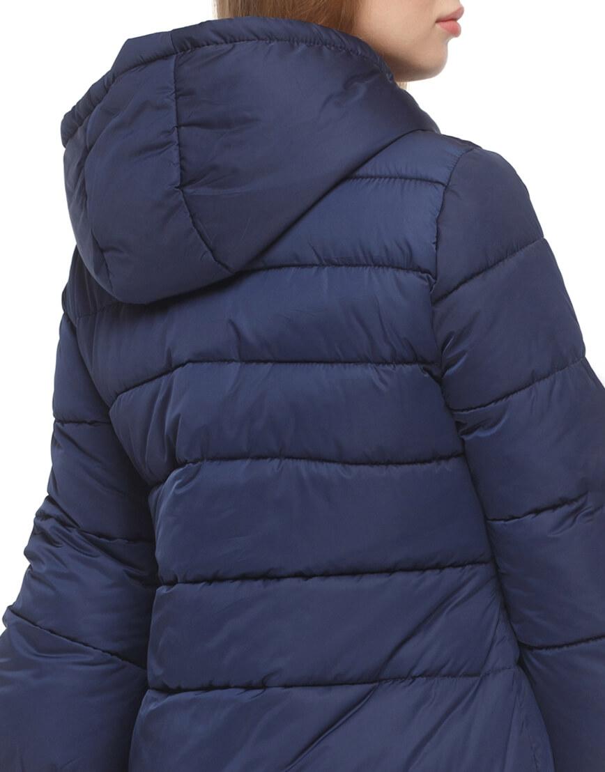 Женская куртка с эластичными манжетами синяя модель 5219 фото 6