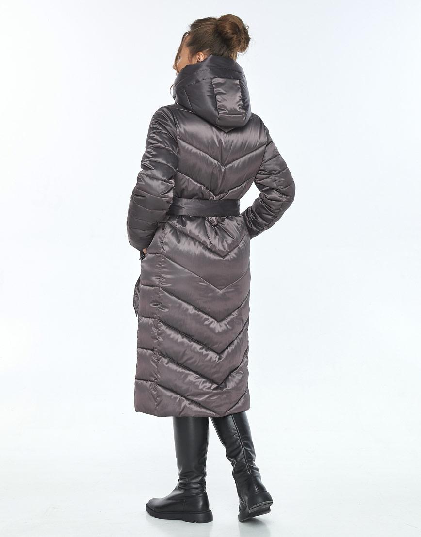 Фирменная капучиновая куртка Ajento женская на зиму 21152 фото 3
