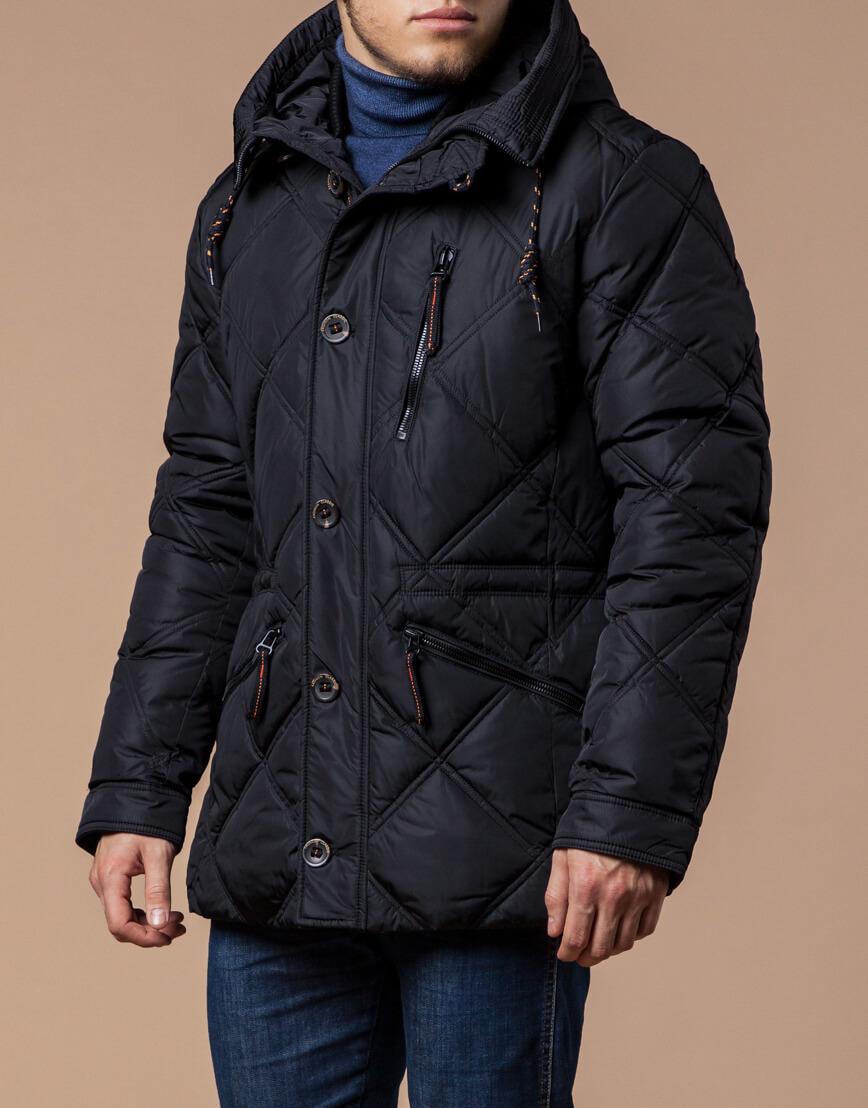 Мужская зимняя черная куртка модель 12481 оптом фото 2