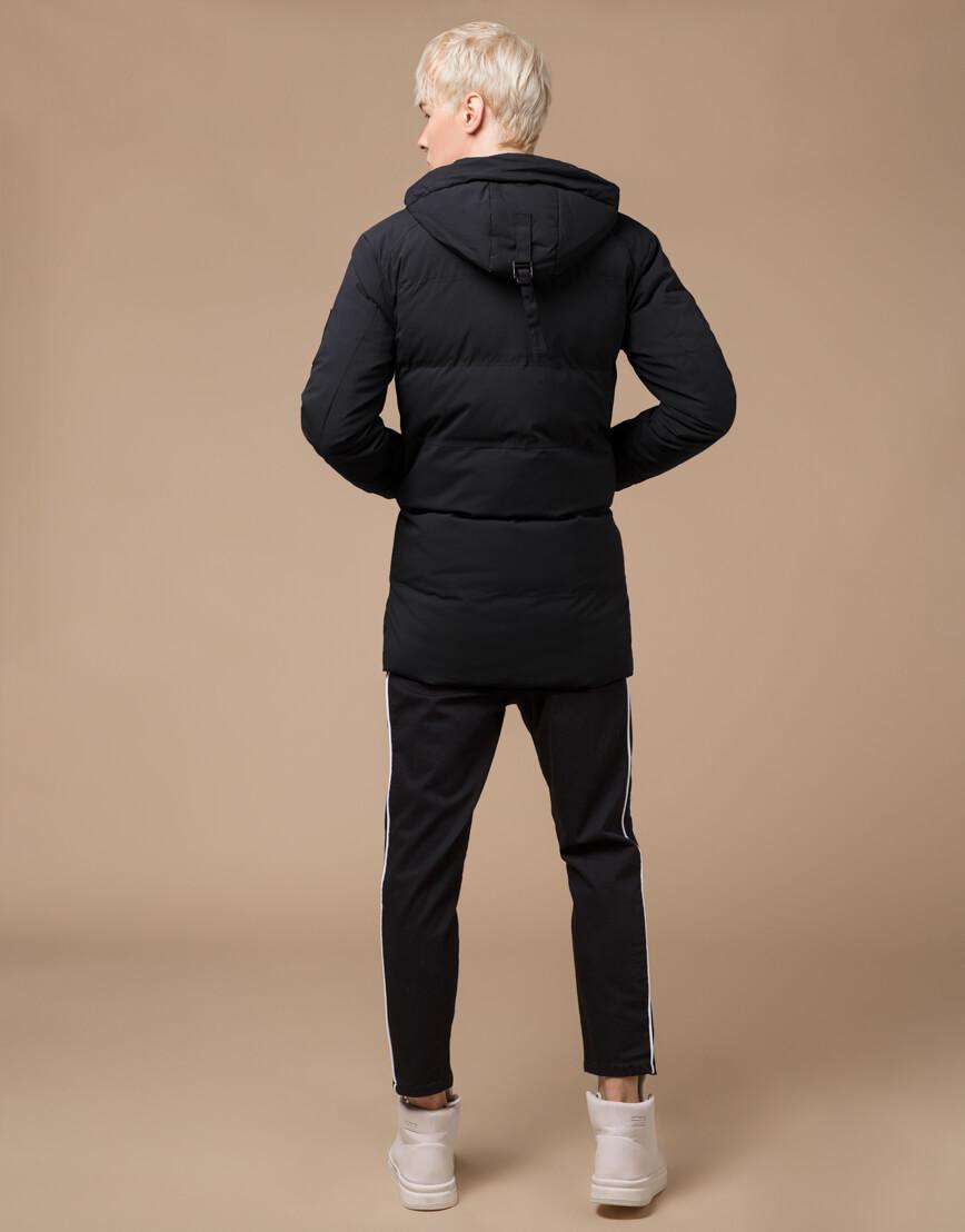 Куртка зимняя черная комфортная модель 25400 фото 4