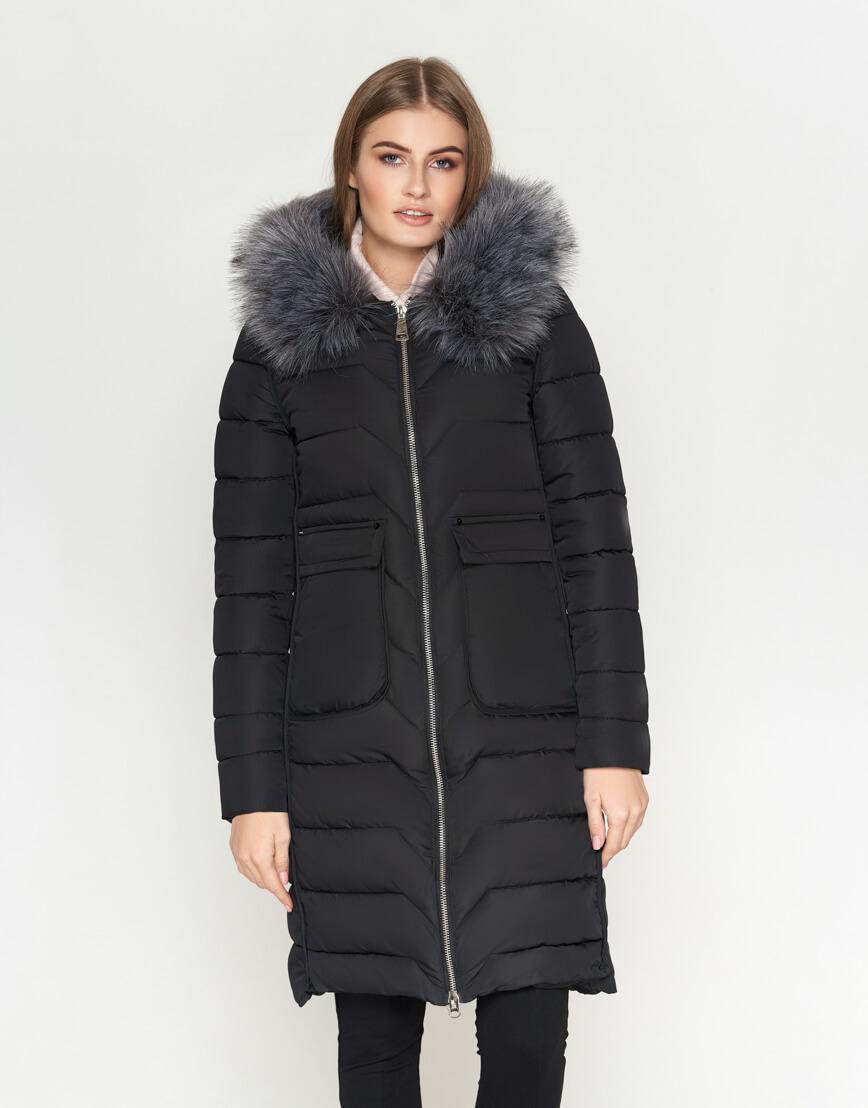 Куртка женская с карманами черная модель 6617 фото 1