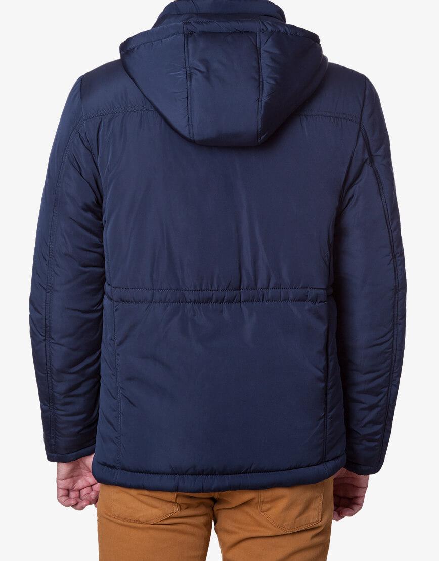 Фирменная куртка большого размера тёмно-синяя мужская 1905-1 фото 3