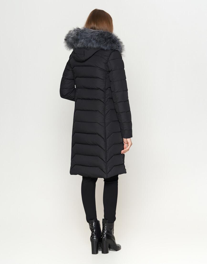 Куртка женская с карманами черная модель 6617 фото 4