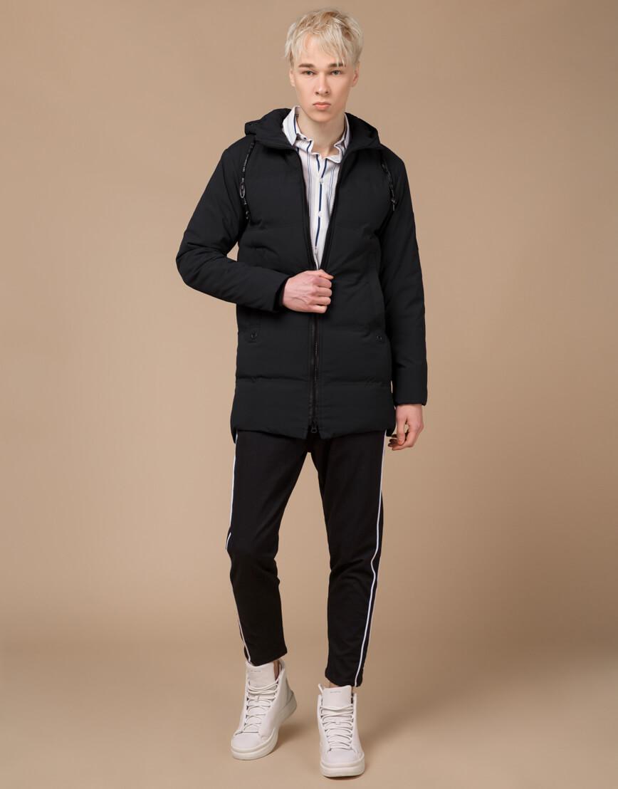 Куртка зимняя черная комфортная модель 25400 фото 1