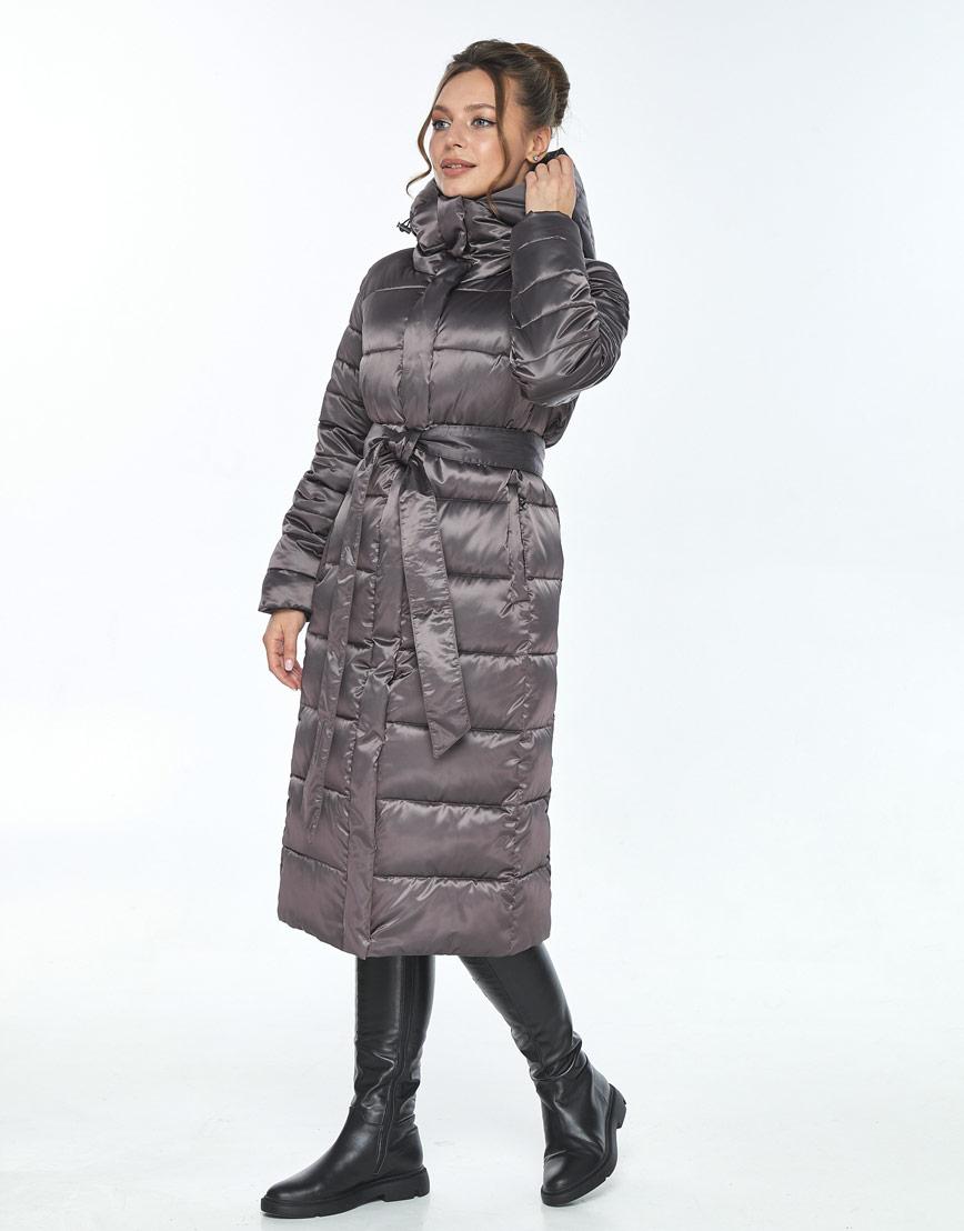 Фирменная капучиновая куртка Ajento женская на зиму 21152 фото 2