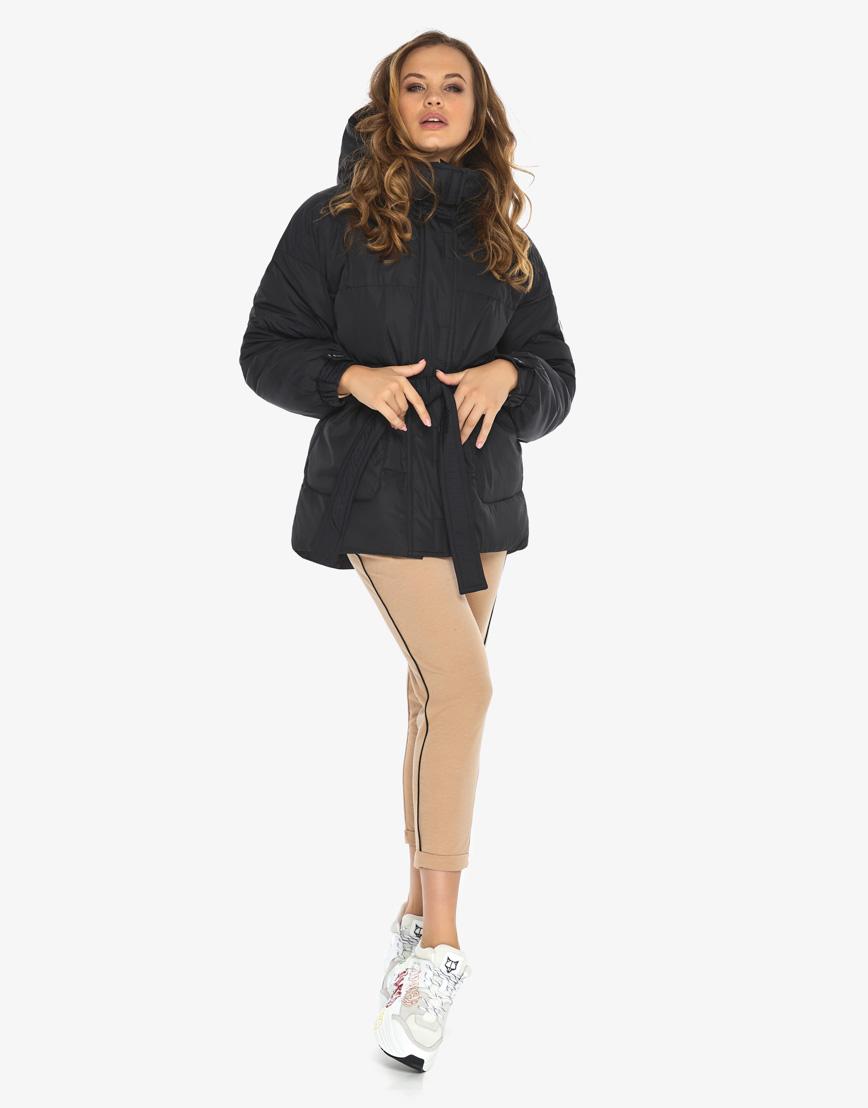 Пуховик куртка Youth женская удобная черная модель 21045 фото 3