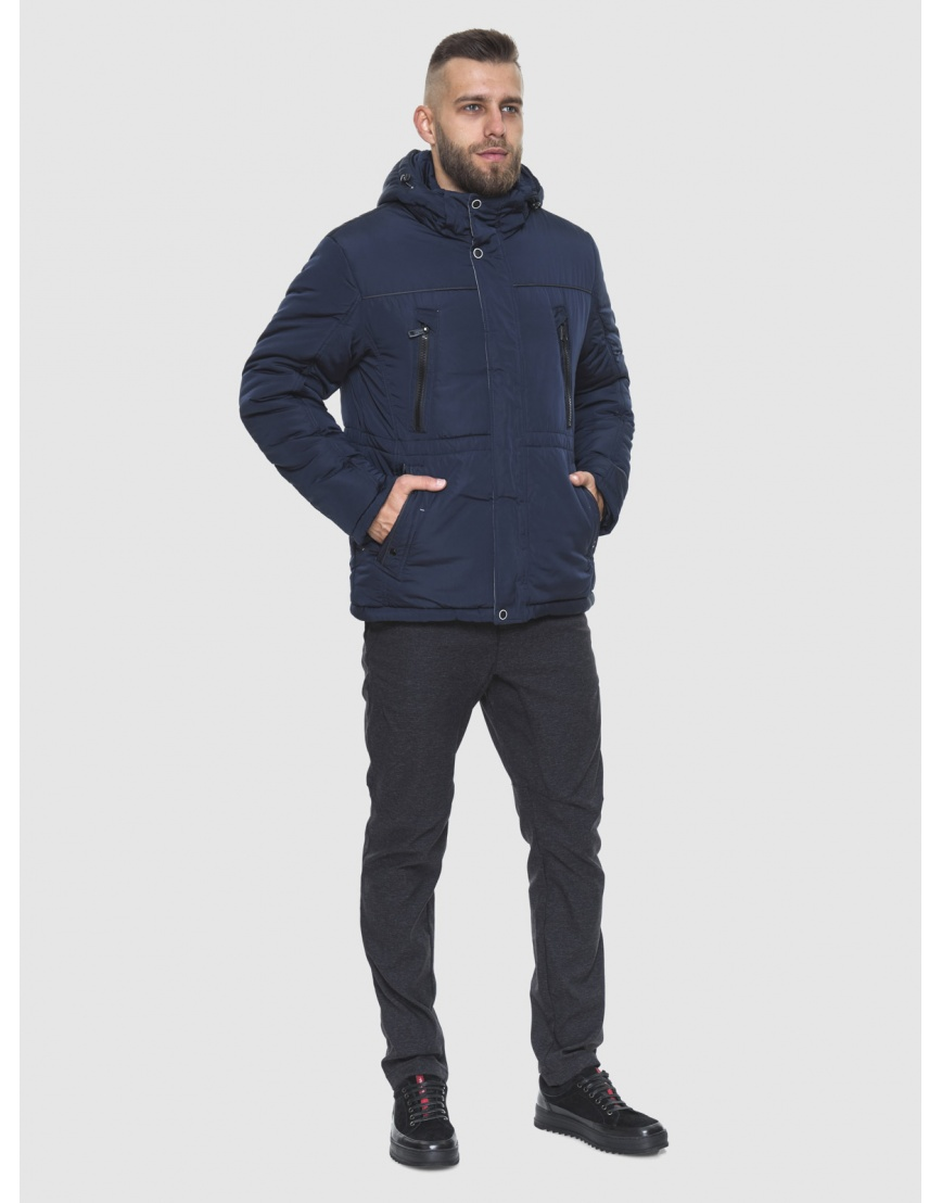 Фирменная куртка большого размера тёмно-синяя мужская 1905-1 фото 2