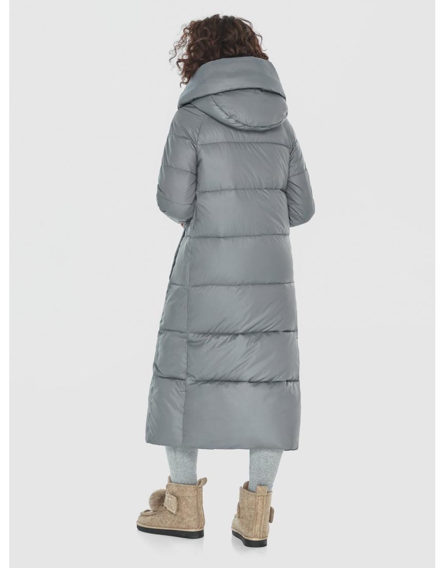 Куртка-пальто Moc серая женская длинная M6530 фото 4