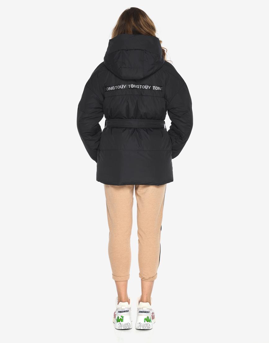 Пуховик куртка Youth женская удобная черная модель 21045 фото 6