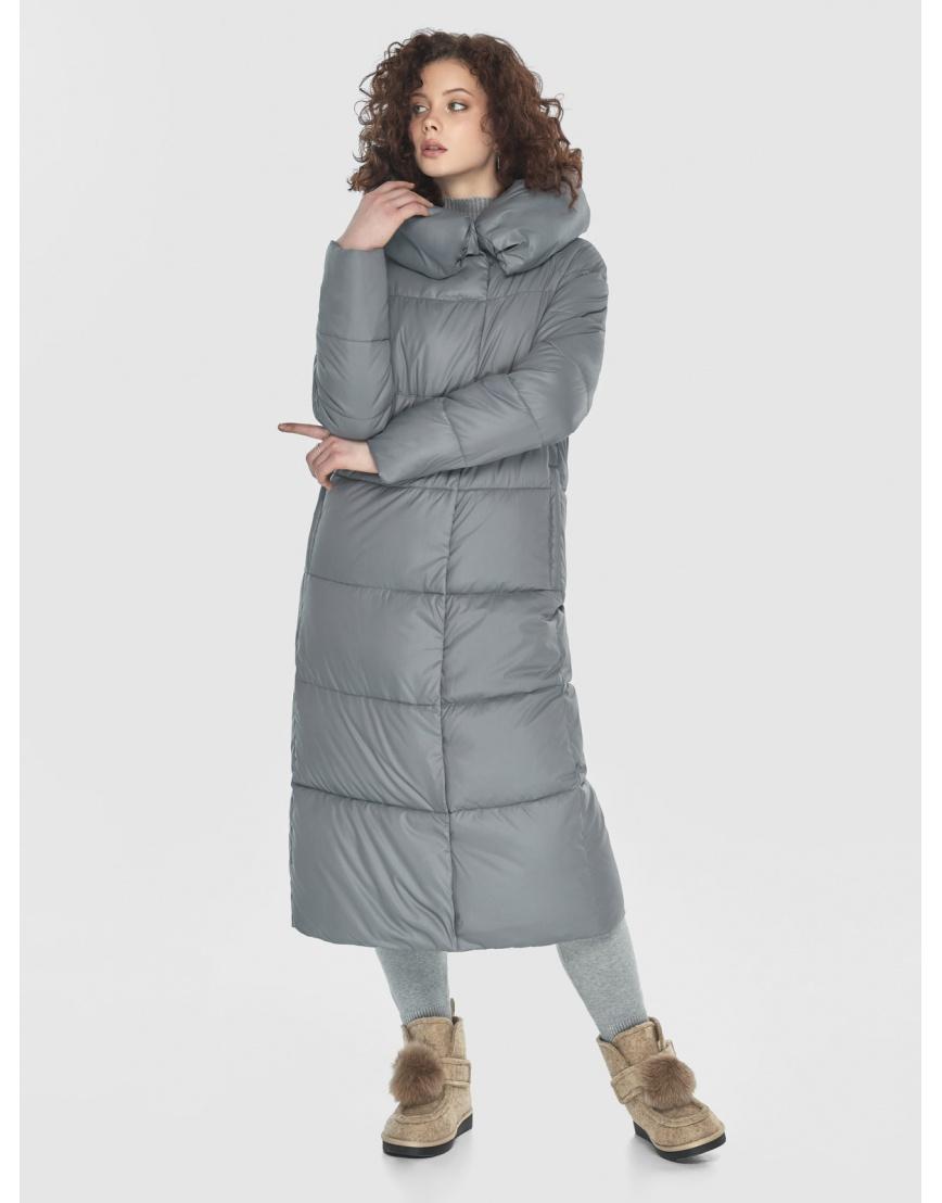 Куртка-пальто Moc серая женская длинная M6530 фото 5