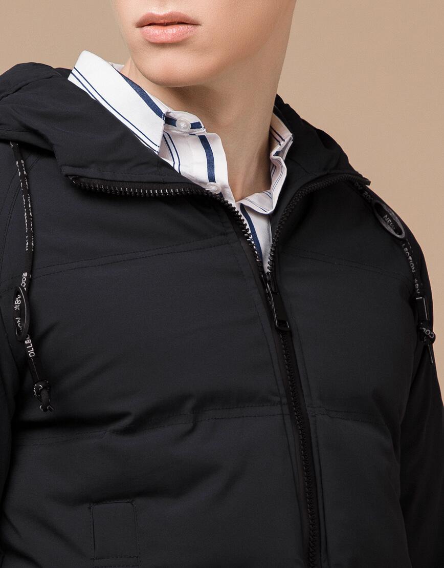 Куртка зимняя черная комфортная модель 25400 фото 5