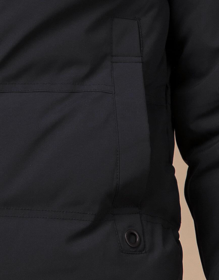 Куртка зимняя черная комфортная модель 25400 фото 6